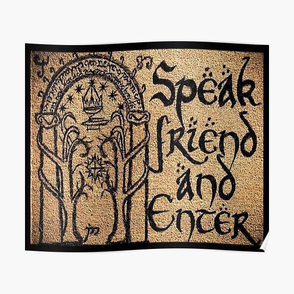 Parlez ami et entrez Poster
