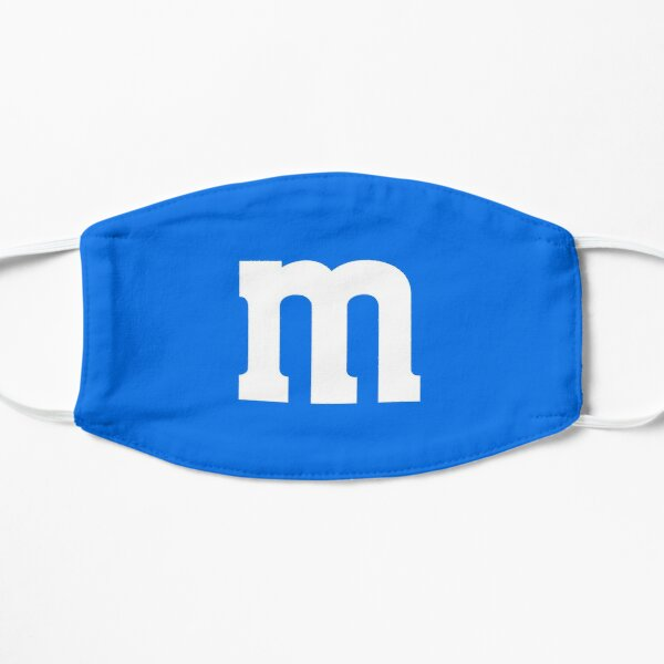 BEST SELLING M Candy Costume Blue Flat Mask