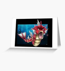 Shiny Gyarados Greeting Card