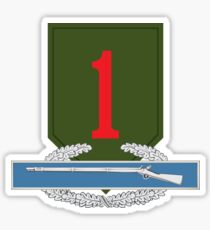 1st Infantry CIB Sticker