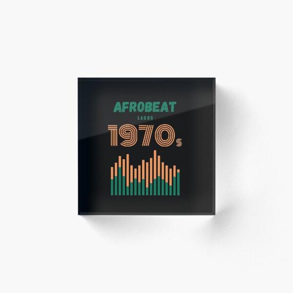 Afrobeat 1970s Acrylic Block