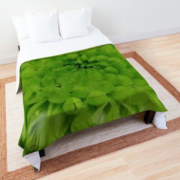 Fresh Green Bloom Comforter