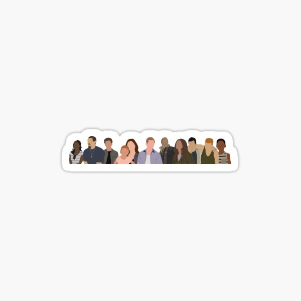 the gallaghers 2 + kev and V  Sticker