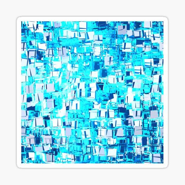 blue shiver Sticker