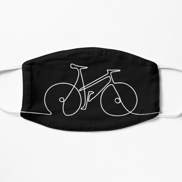 CYCLE BICYCLE Bike Single line Minimal Sketch, continuous line art Simple But Gorgeous and Aesthetic gift Idea for Cyclist Mask