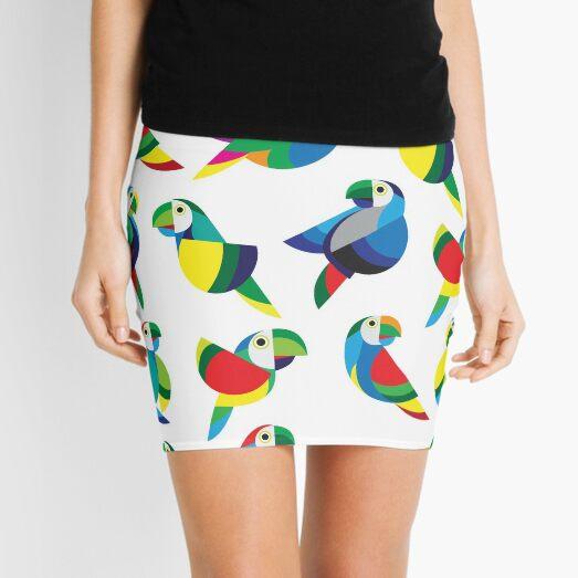 Parrots  Mini Skirt