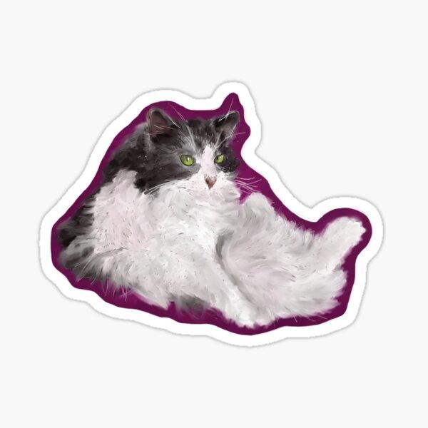 Floofy Cat (Sticker) Sticker
