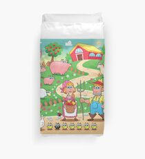 Animal farm Duvet Cover