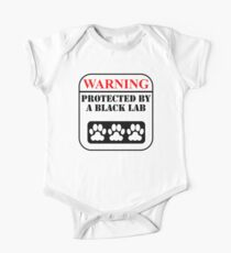 Warning Protected By A Black Lab Kids Clothes