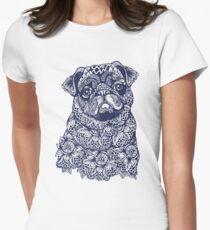 Mandala of Pug Women's Fitted T-Shirt