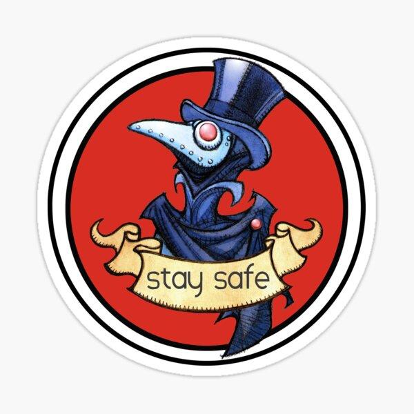Littlest Plague Doctor Stay Safe  Sticker