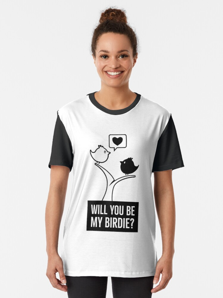 Alternate view of Bird love and love for birds Graphic T-Shirt