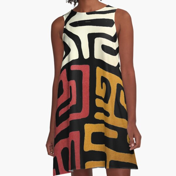 African Mudcloth A-Line Dress