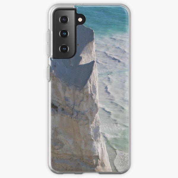 Chalk cliffs towering white ocean Samsung Galaxy Soft Case