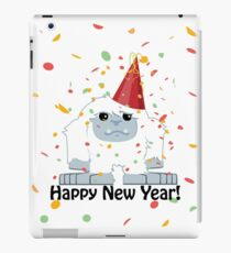 Happy New Year Yeti iPad Case/Skin
