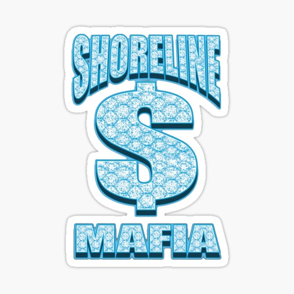 OHGEESY, Shoreline Mafia Blue diamond Sticker