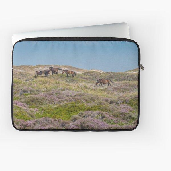 Wild horses on beautiful heathland Laptop Sleeve
