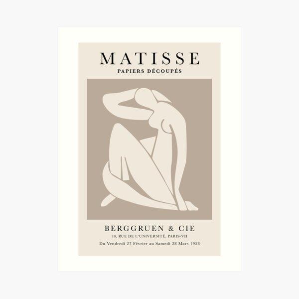 Henri Matisse, Papiers Découpés Art Couleur Marron, Découpe Matisse Imprimé Beige, Impression d'Art Exposition Impression artistique