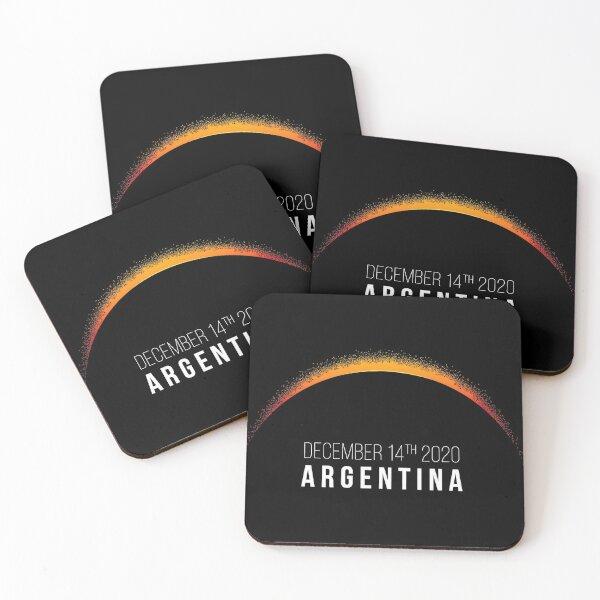 ARGENTINA ECLIPSE 2020 Coasters (Set of 4)