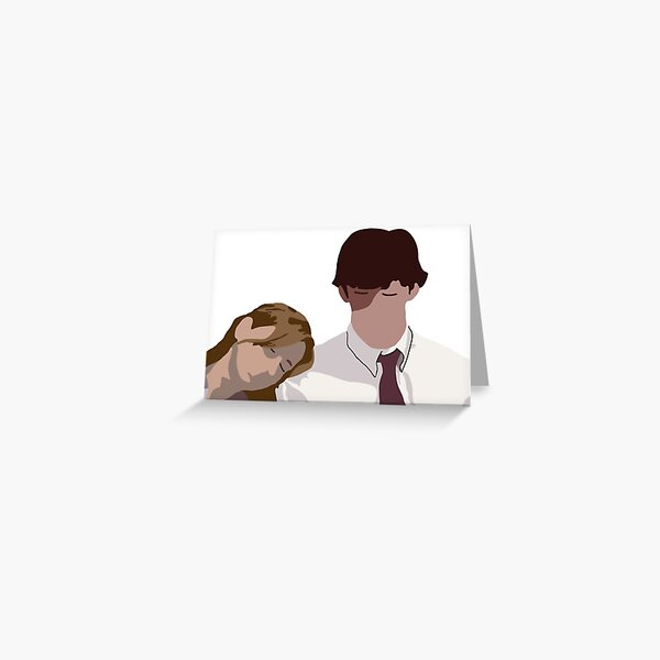 Pam and jim Greeting Card