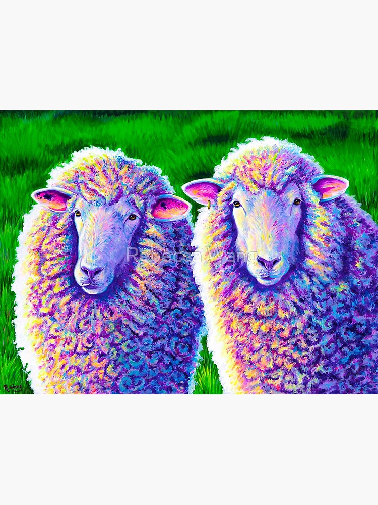 Colorful Sheep Portrait - Charlie and Curtis by lioncrusher