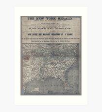 Civil War Maps 1906 War maps and diagrams Art Print
