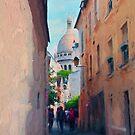 Narrow Streets Of Montmartre by John Rivera