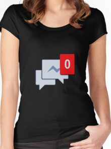 Facebook Chat Messages - Messenger  Women's Fitted Scoop T-Shirt