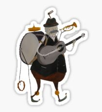 One Man Band Machine Sticker