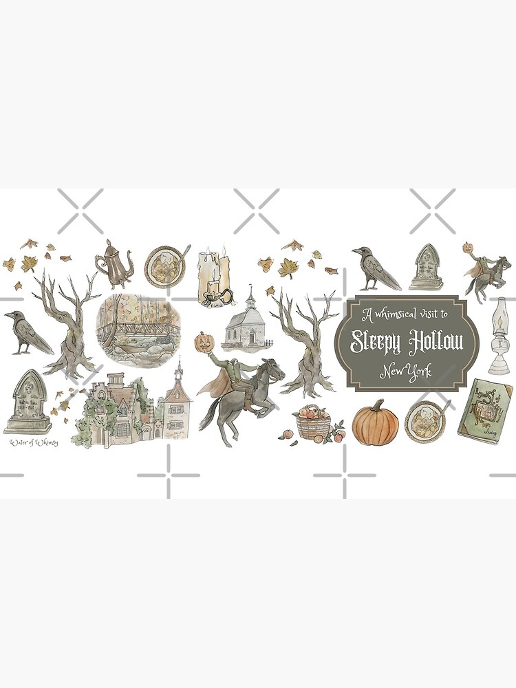 Whimsical Visit to Sleepy Hollow - White Background by WitchofWhimsy