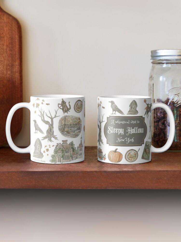 Alternate view of Whimsical Visit to Sleepy Hollow - White Background Mug