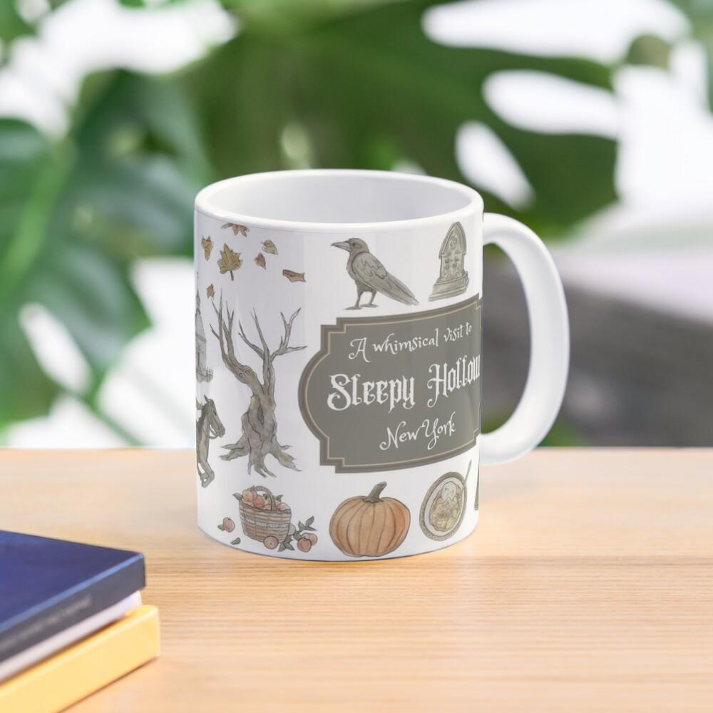 Whimsical Visit to Sleepy Hollow - White Background Mug