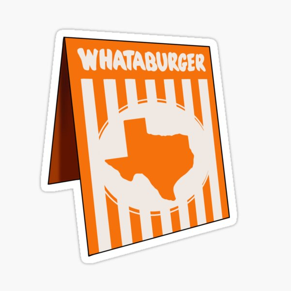 Texas Whataburger table number Sticker