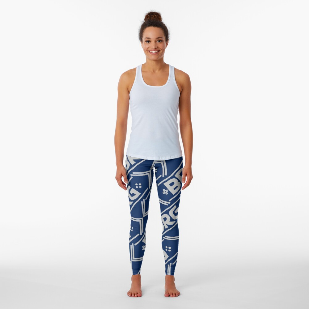 Boss Rush Games Logo Gray Pattern Leggings