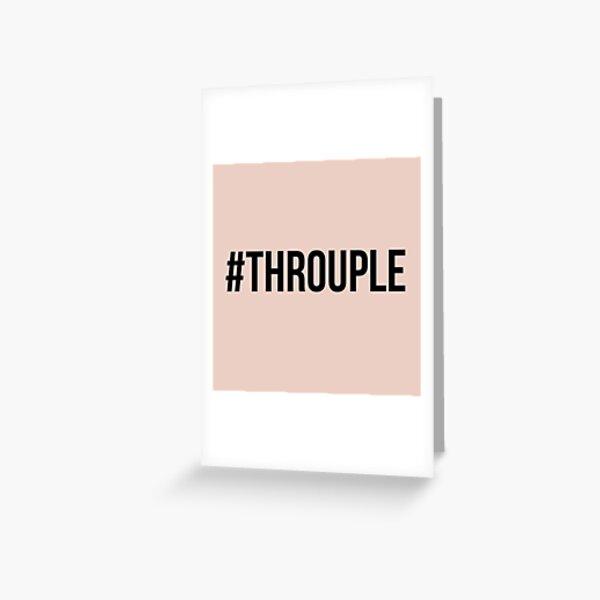 Hashtag Throuple ( #Throuple) | Triad | Polyamory Greeting Card