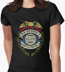 Respect to Those Who Serve & Protect - Law Enforcement Lives Matter - All Lives Matter - Police Appreciation - Blue Lives Matter T-Shirt