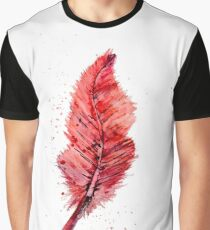 Red Feather Graphic T-Shirt