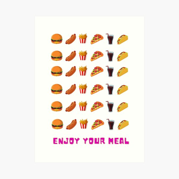 Enjoy your meal Art Print
