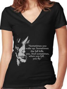 Sometimes you wake up Women's Fitted V-Neck T-Shirt