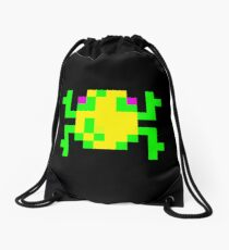 Frogger Pixel Frog Drawstring Bag Unisex