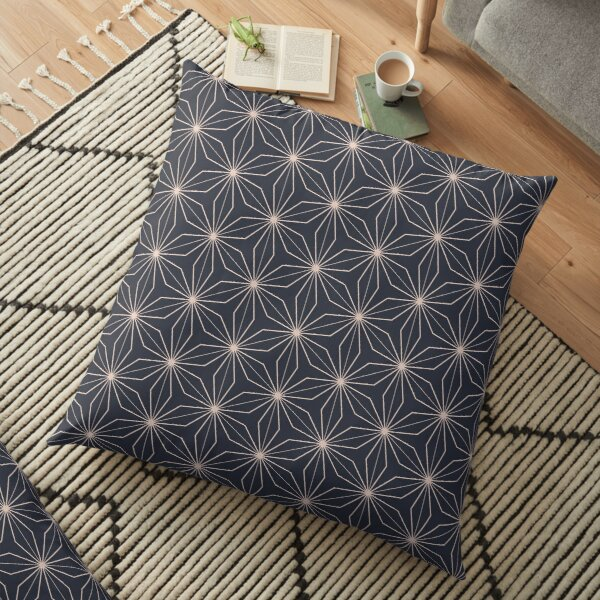 Modern Geometry Grey Pattern Design 35 Floor Pillow