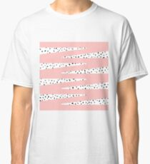 Artistic Chic Pink Zigzag & Abstract Triangles Classic T-Shirt