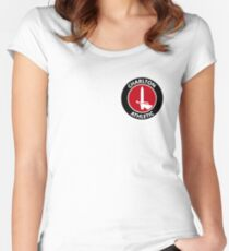 charlton athletic logo Women's Fitted Scoop T-Shirt