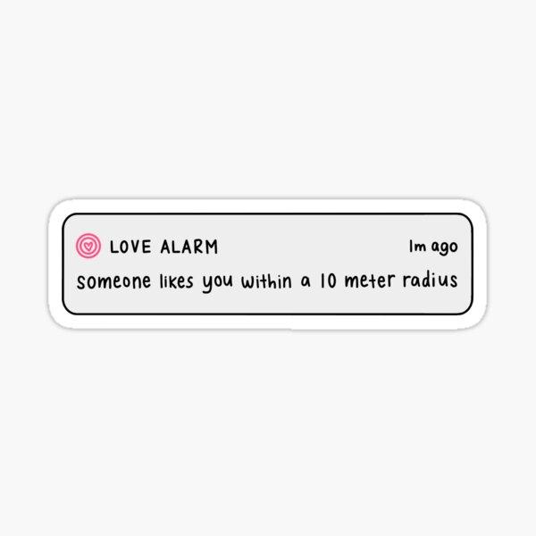 love alarm notification Sticker