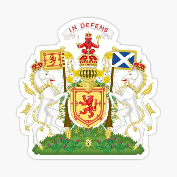 Royal Coat of Arms of Scotland  Sticker