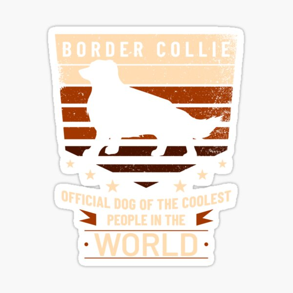 Border Collie Official Dog Of The Coolest People Sticker