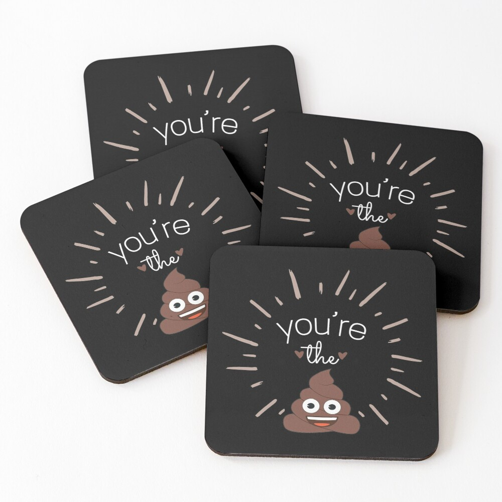 Youre The Shit Coasters (Set of 4)