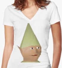 Gnome Child Women's Fitted V-Neck T-Shirt