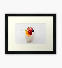 rice pudding from fruit Framed Print