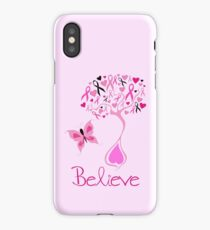 Believe - Breast Cancer Survivor iPhone Case/Skin